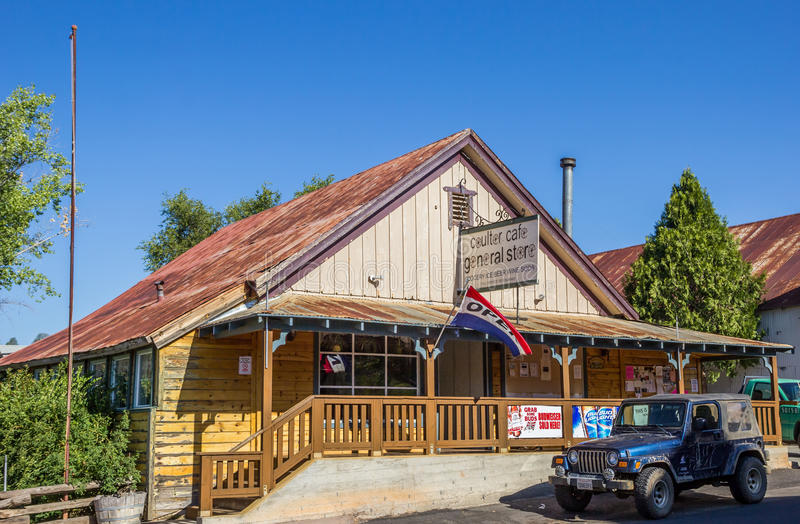 General store in Coulterville, California stock photo