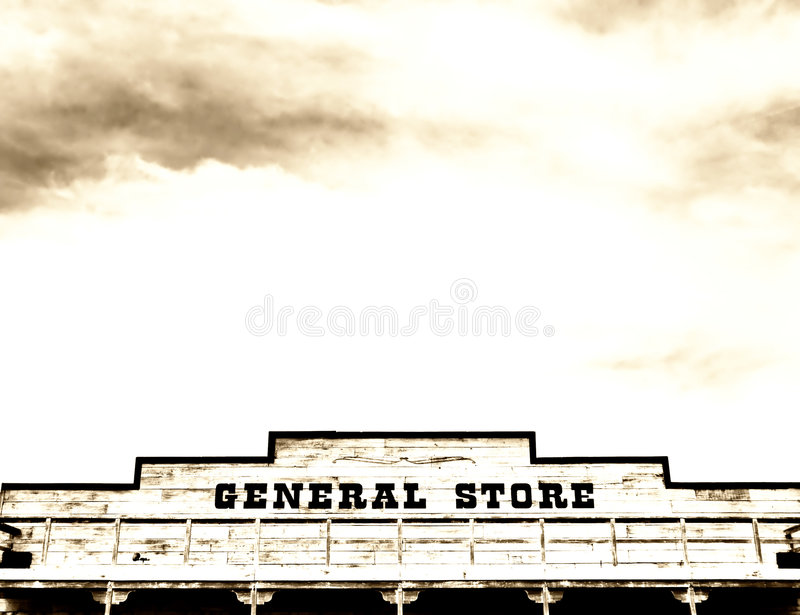 General Store On Main Street America Royalty Free Stock Photos