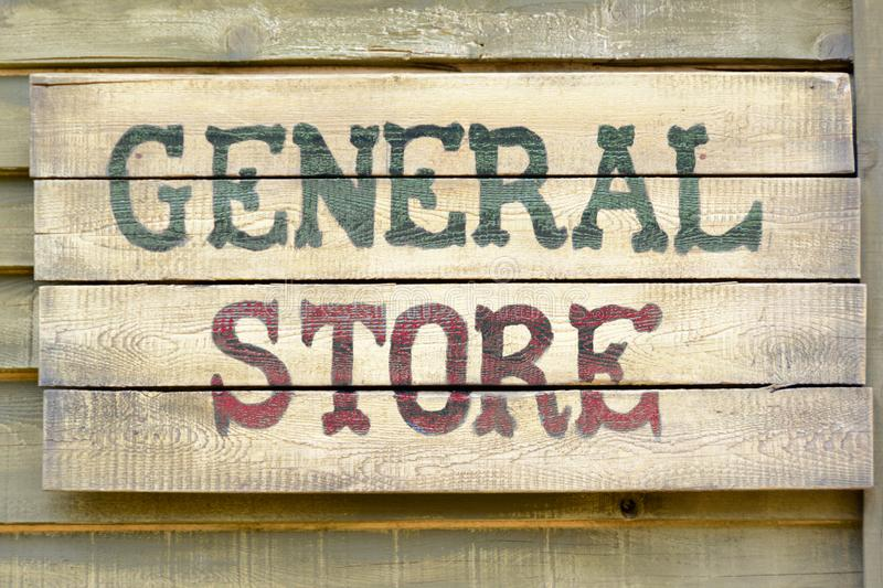 General store sign. A general store wood sign royalty free stock images