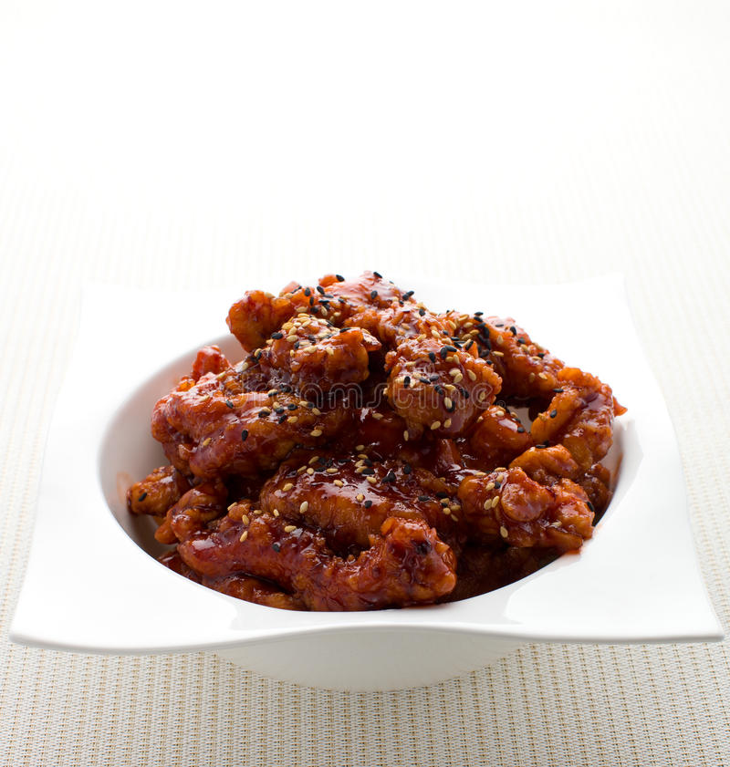General tso chicken stock image