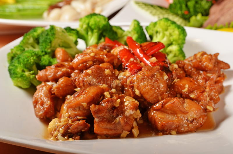 General Tso's chicken. A Popular Taiwan food royalty free stock photography