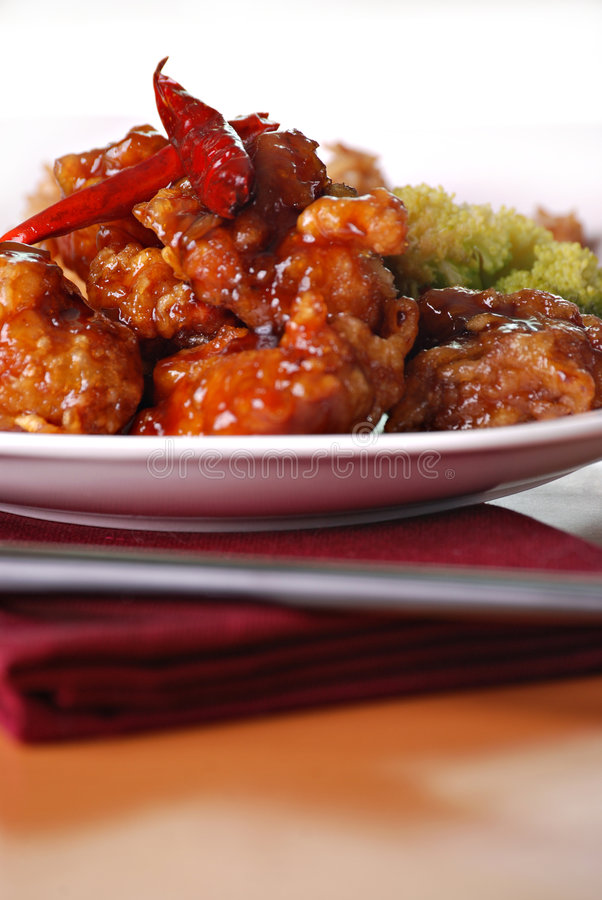 Download General tso's chicken stock image. Image of pepper, nobody - 7040215