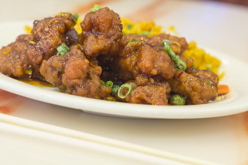 General Tso's Chicken royalty free stock photography
