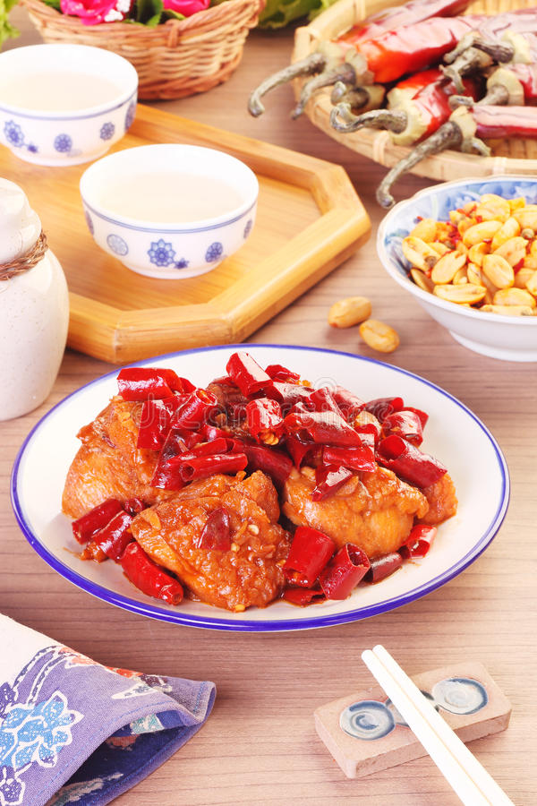 General Tso`s chicken. A Popular Taiwan food stock photo