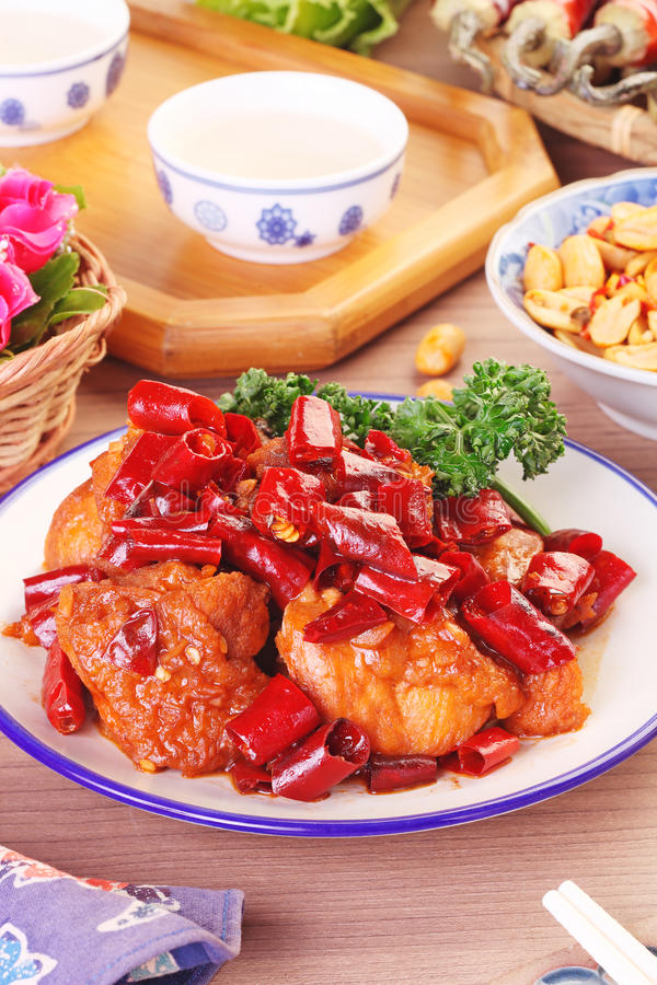General Tso`s chicken. A Popular Taiwan food royalty free stock images