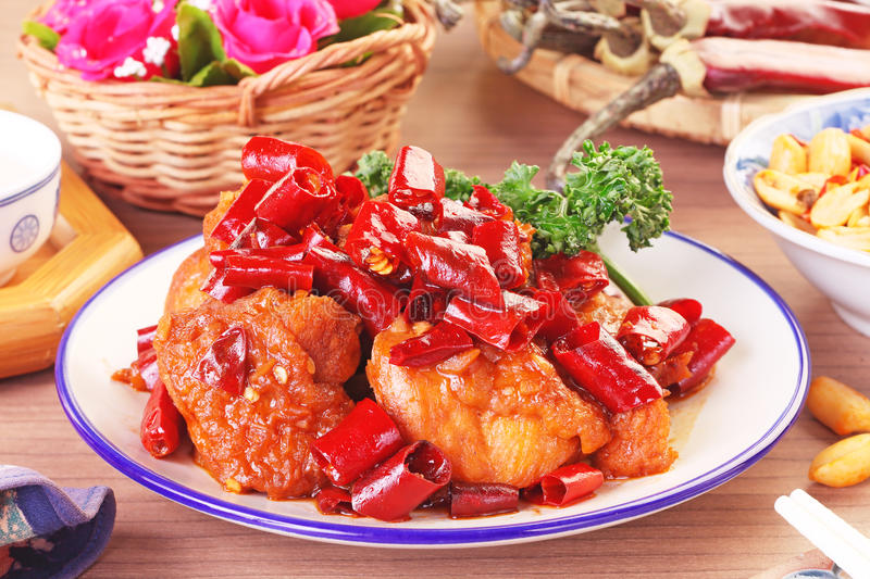 General Tso`s chicken. A Popular Taiwan food stock photography