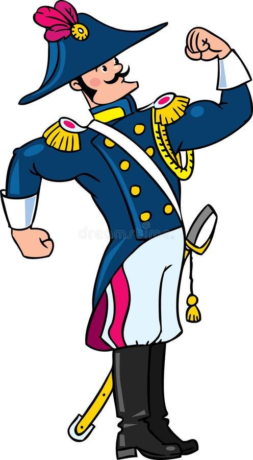 General u oficial valiente fuerte stock de ilustración