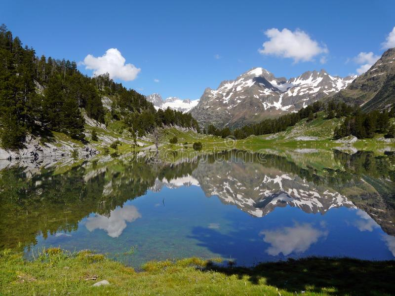 Lake landscape. Benasque Valley Pyrenees. Spain. Esera valley. stock images
