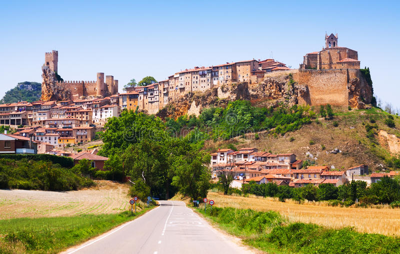 General view of Frias in summer. Burgos stock image