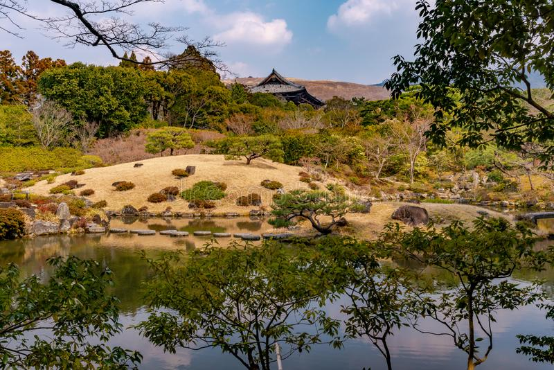General view of the Isui-en Park in Nara royalty free stock images