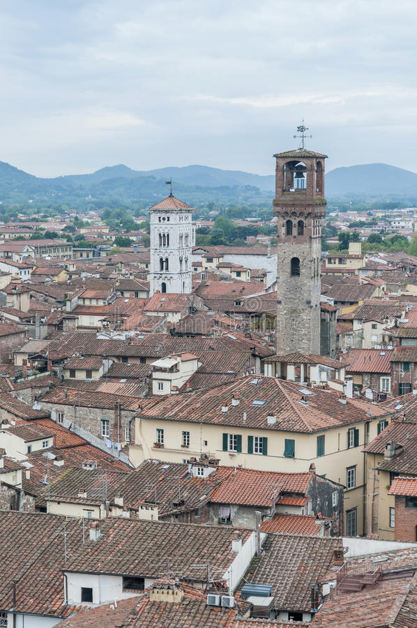 Download General View Of Lucca In Tuscany, Italy Stock Image - Image of landmark, italia: 26606217