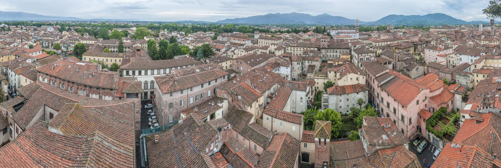 Download General View Of Lucca In Tuscany, Italy Stock Image - Image of italian, european: 39509653