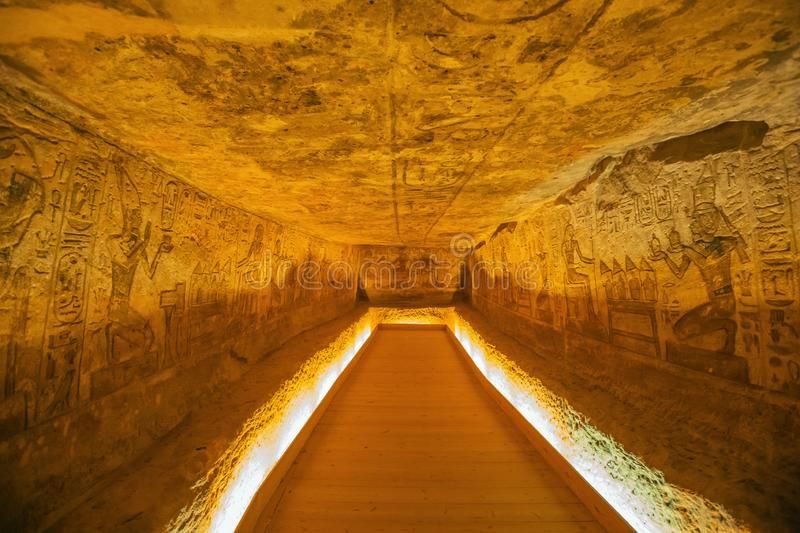 General view of one of the niches. In the Great Temple of Abu Simbel royalty free stock images