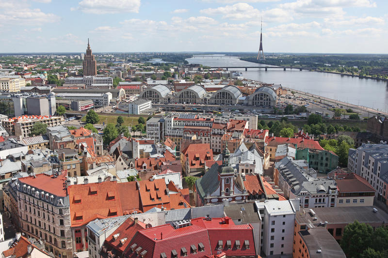 The General View Of Riga Stock Photo