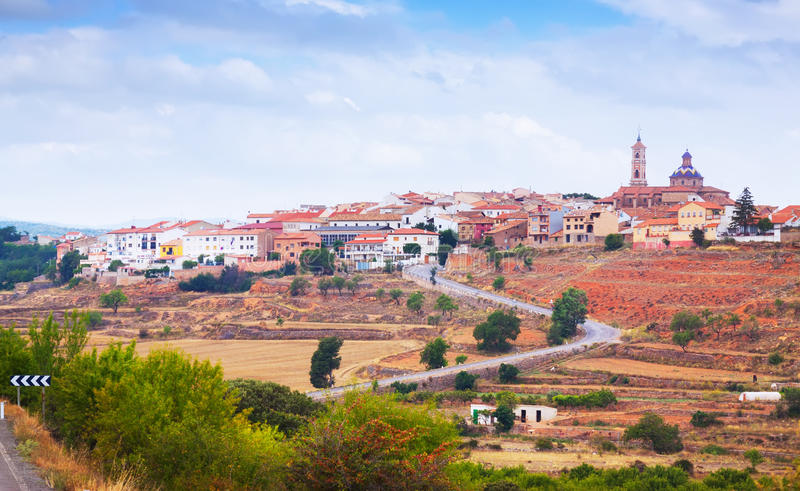 Download General View Of Sarrion In Province Of Teruel Stock Photo - Image: 34265856