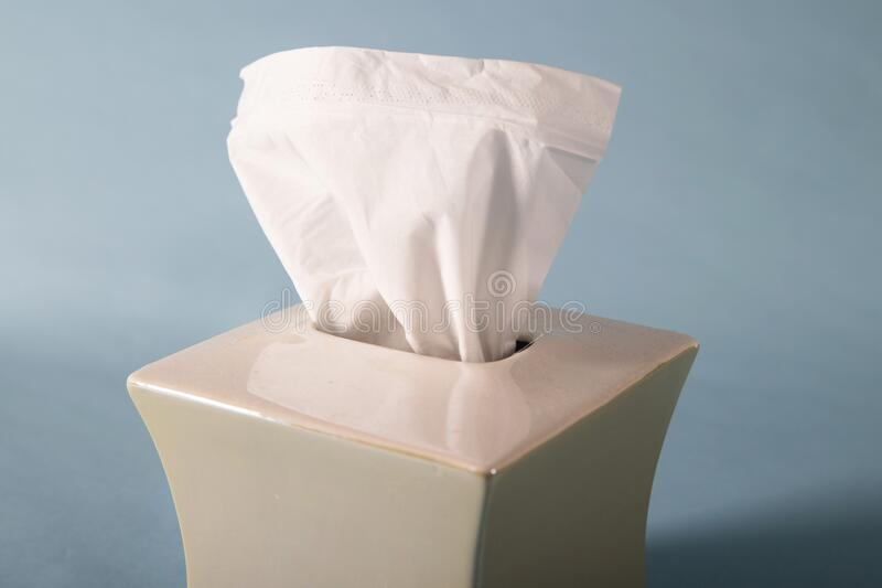 General view of soft tissue paper used for blowing a nose when ill royalty free stock photography