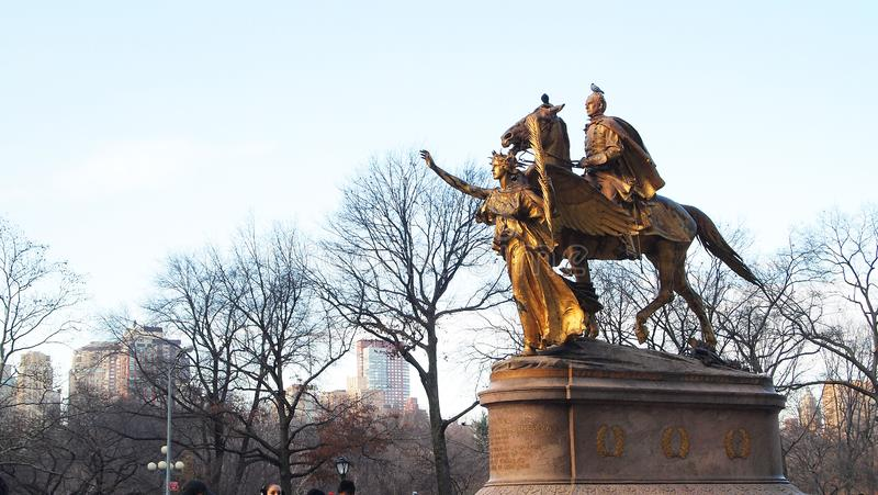 General William Tecumseh Sherman Monument fotografering för bildbyråer
