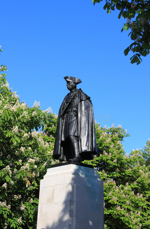General Wolfe Statue imagens de stock royalty free