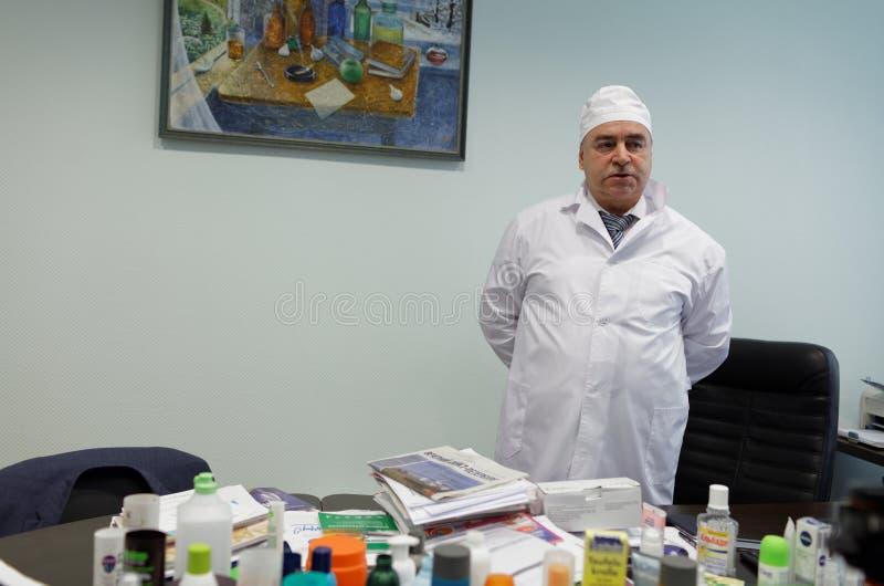 Generaldirektor des Chemikalie-biologischen Unternehmens Vita Mikhail Borts stockbild
