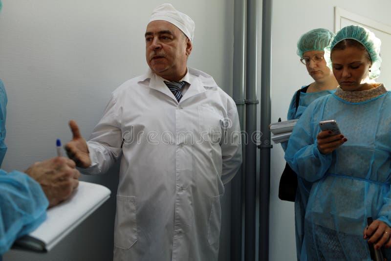 Generaldirektor des Chemikalie-biologischen Unternehmens Vita Mikhail Borts lizenzfreie stockfotografie