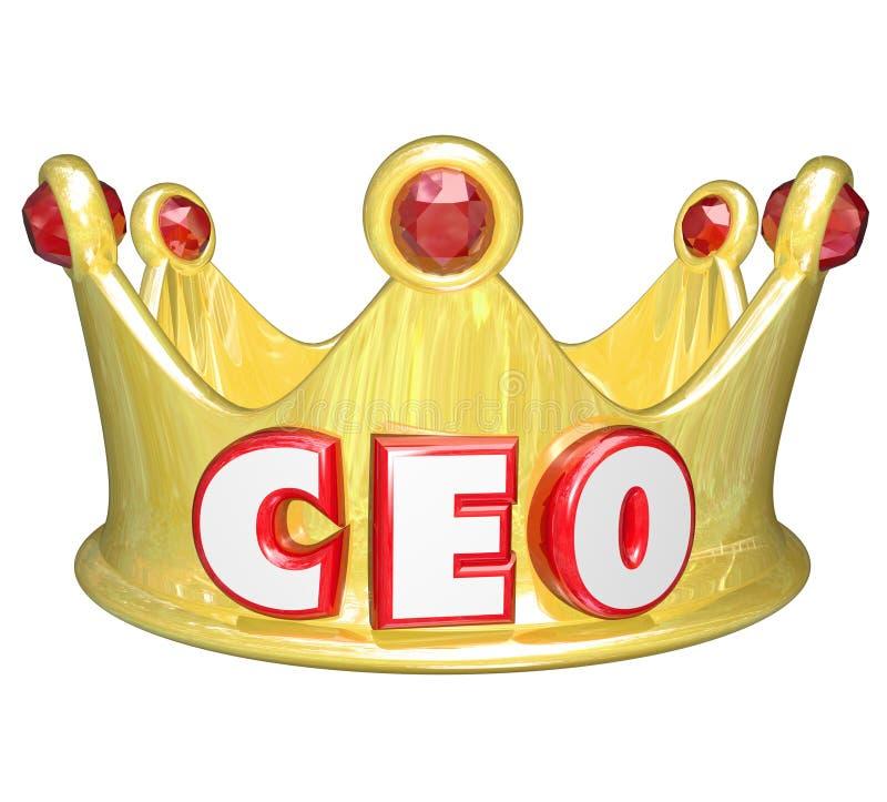 Generaldirektor Goldkrone CEOs Words Top Ruler stock abbildung