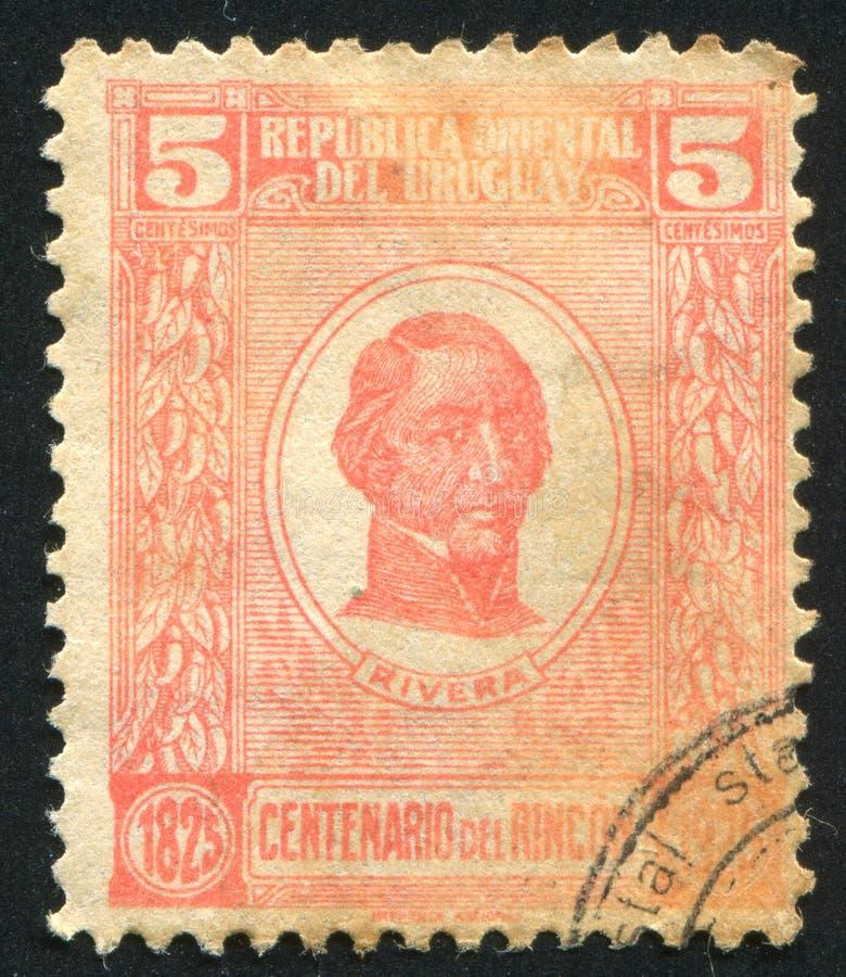 Generale Fructuoso Rivera fotografie stock