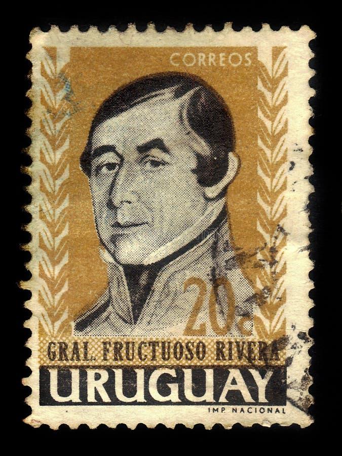 Generale Fructuoso Rivera, primo presidente dell'Uruguay immagine stock libera da diritti