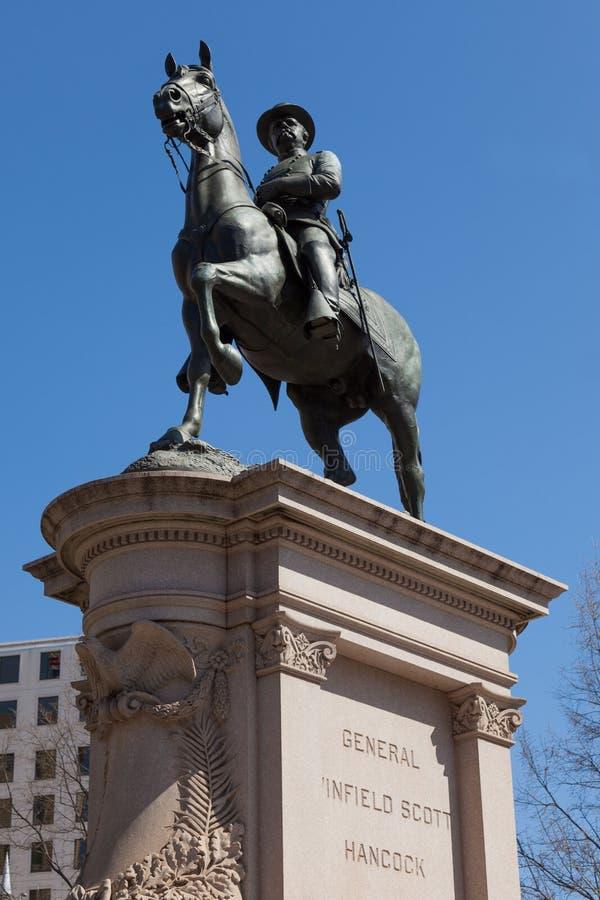 Generale Winfield Scott Hancock In Washington DC Fotografia Stock