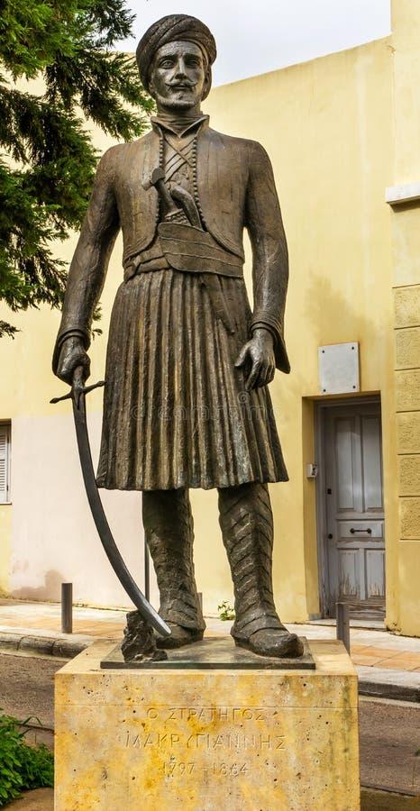 Generale Yannis Makriyiannis Statue Acropolis Athens Grecia fotografie stock