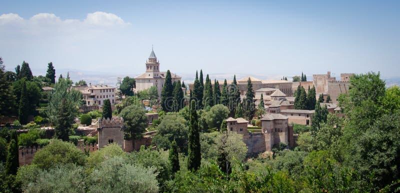 Generalife in Alhambra of Granada. Spain stock photos