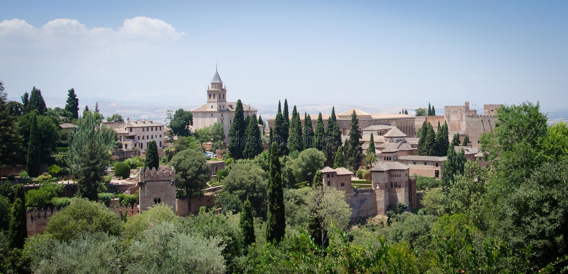 Generalife in Alhambra von Granada spanien stockfotos