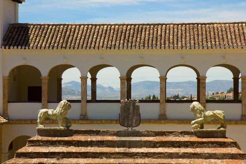 Generalife in complex Alhambra, Granada, Spanje stock afbeelding