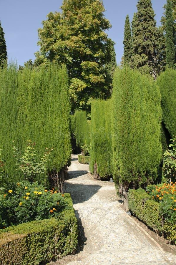 Generalife gardens in Granada, Spain stock photography