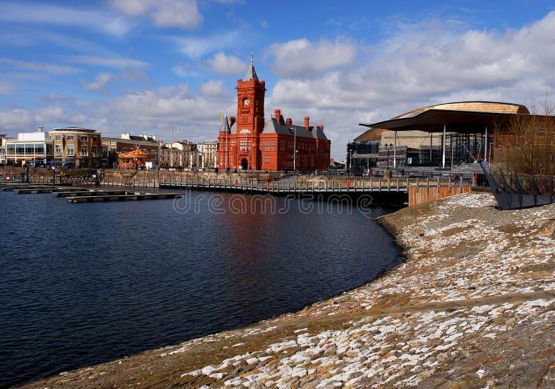 Generalità della baia di Cardiff fotografie stock