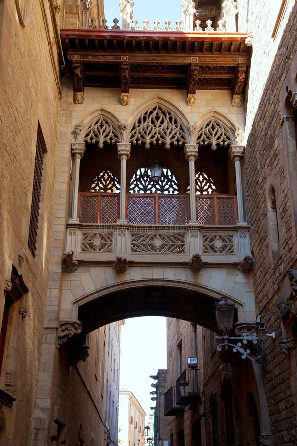 Generalitat de Barcelona Palau en el barrio hispano gótico foto de archivo