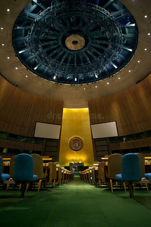 Generalversammlung der Vereinten Nationen in New York stockfotos