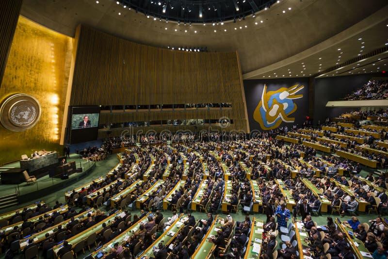 Generalversammlung der Vereinten Nationen in New York lizenzfreie stockfotos