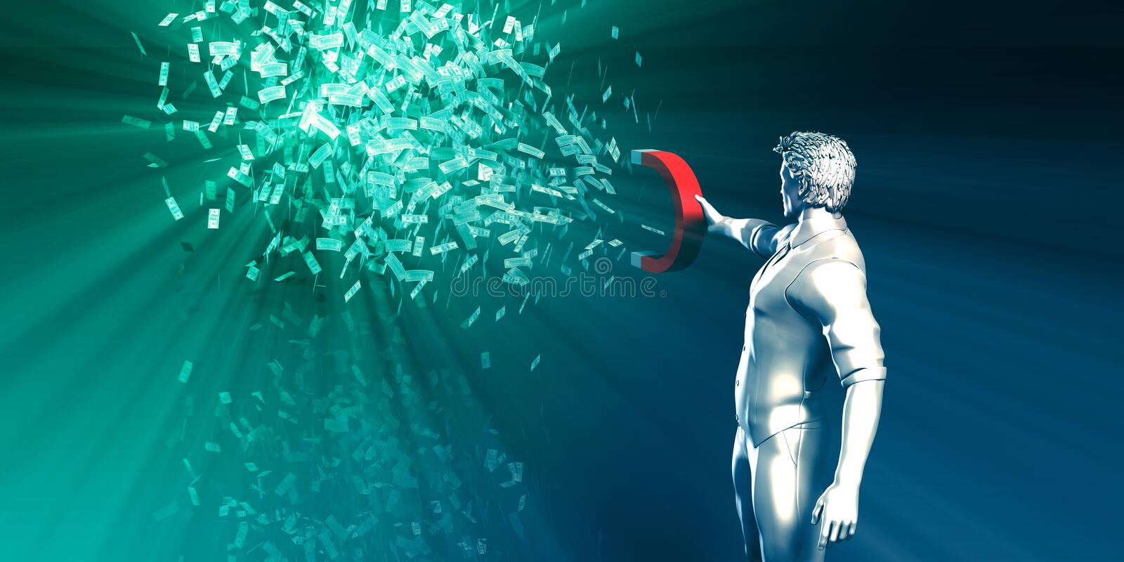 Generate Wealth and Income royalty free illustration