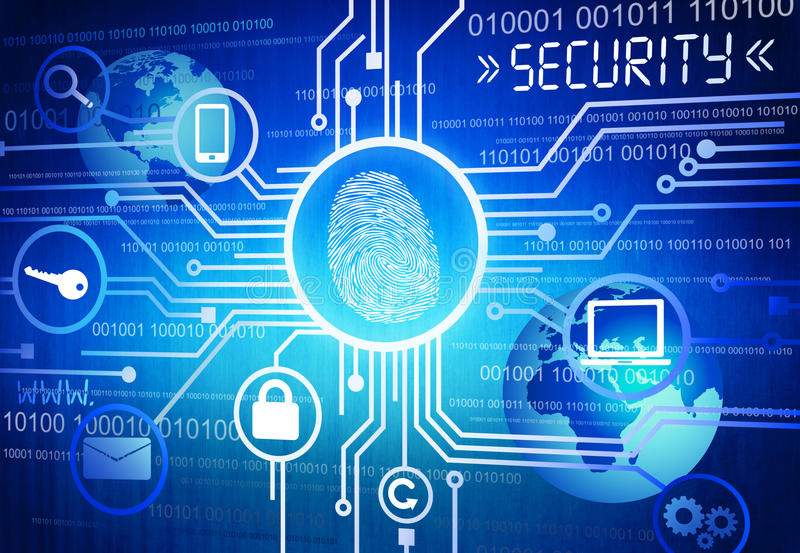 Generated Image of Online Security Concept. Digitally Generated Image of Online Security Concept vector illustration