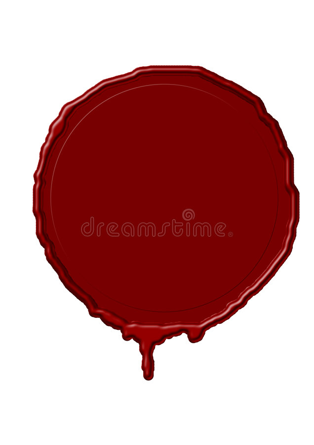 Generated wax stamp stock illustration