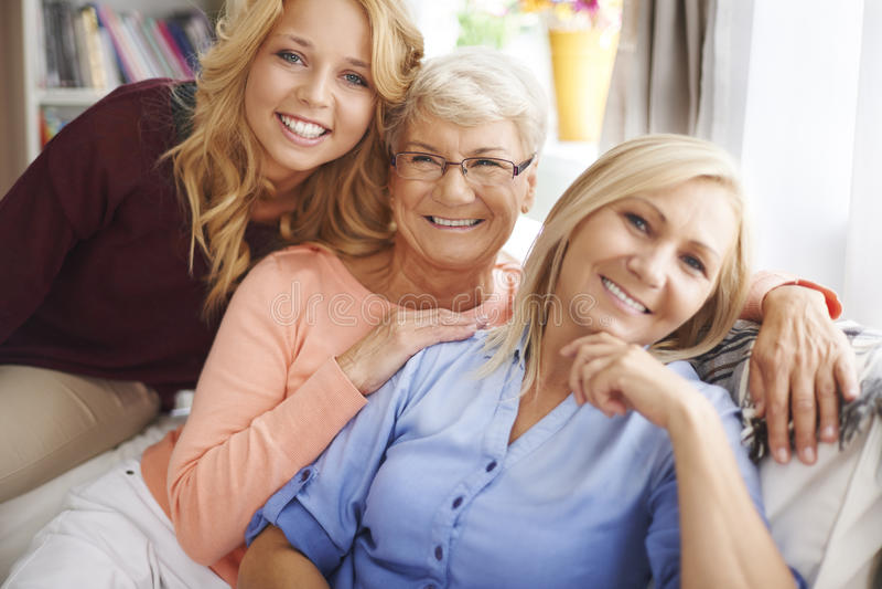 Generatie drie van vrouwen stock afbeeldingen