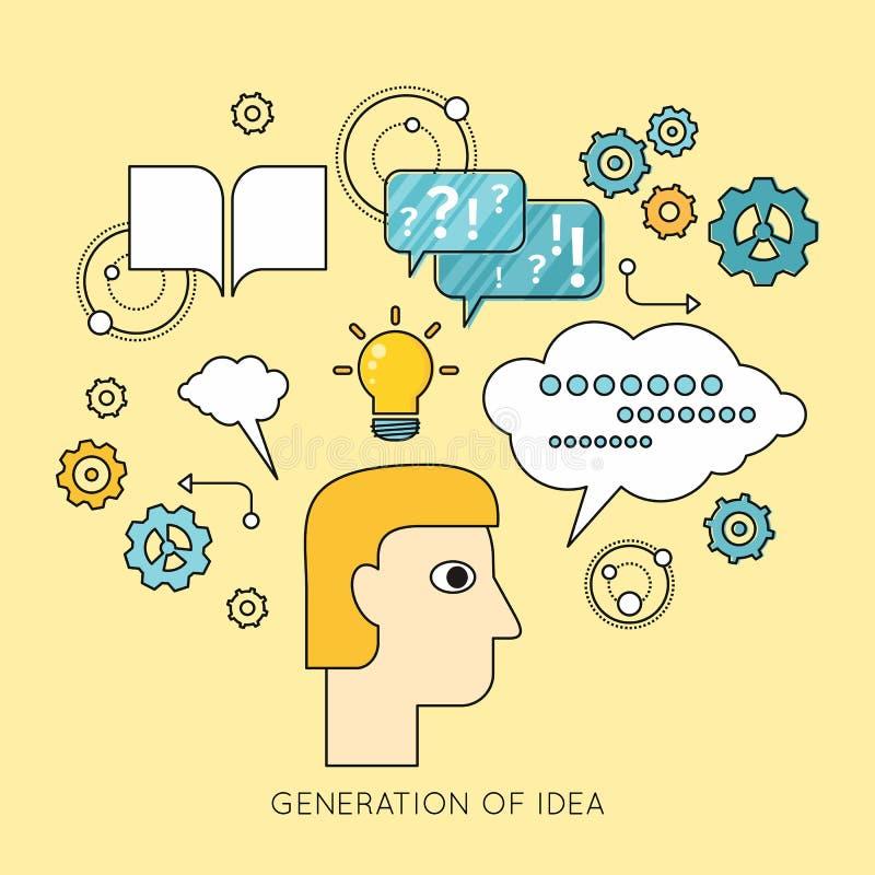 Generatie van Ideeachtergrond in Vlakte vector illustratie