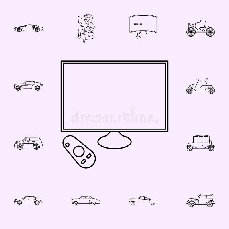 generatie van slim TVs-pictogram Voor Web wordt geplaatst dat en het mobiele algemene begrip van generatiepictogrammen stock illustratie