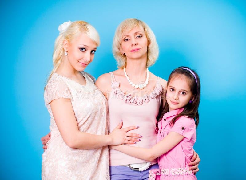 generaties van vrouwen royalty-vrije stock foto