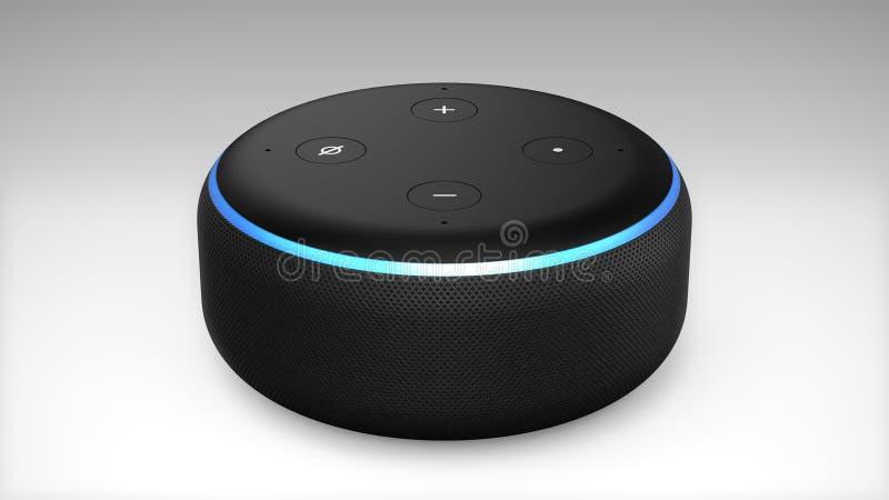 3. Generation Amazonas Alexa Echo Dot vektor abbildung
