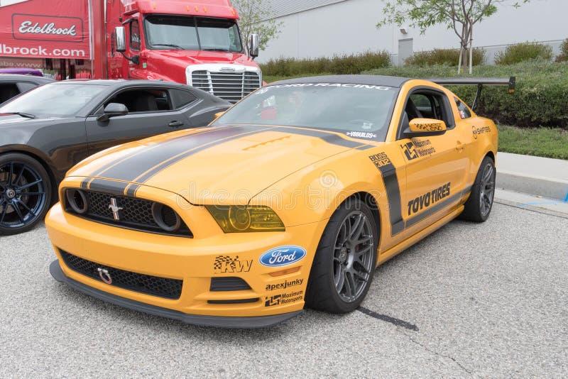 5. Generation Ford Mustangs auf Anzeige stockfotos