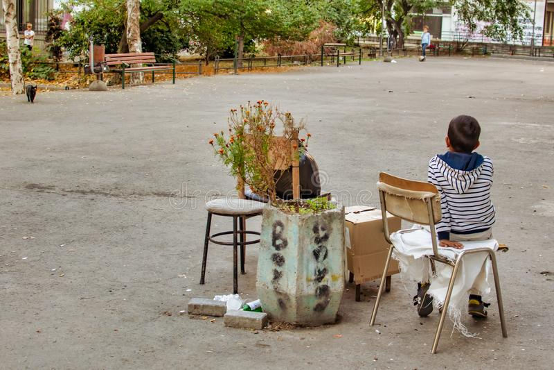 Generation von Kindern in den Großstädten lizenzfreie stockfotografie