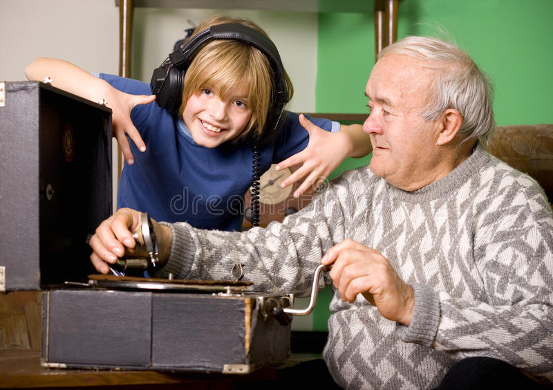 Generations Compared Royalty Free Stock Photos
