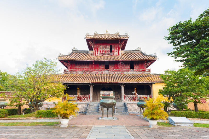 The Generations Temple in the citadel of Hue Imperial City royalty free stock images