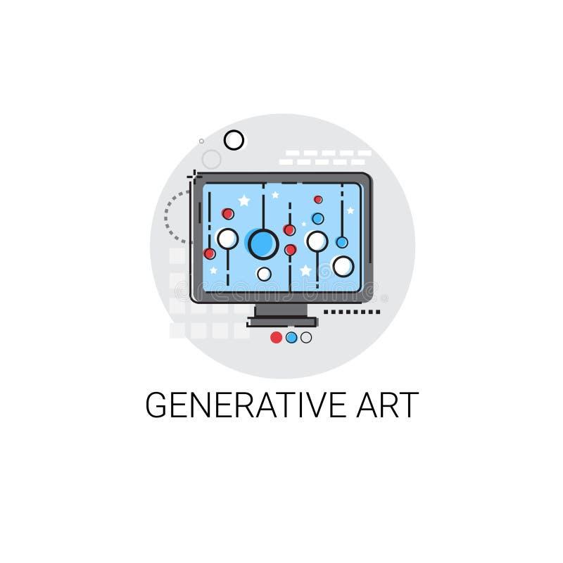 Generativa moderna Art Technology Icon vektor illustrationer